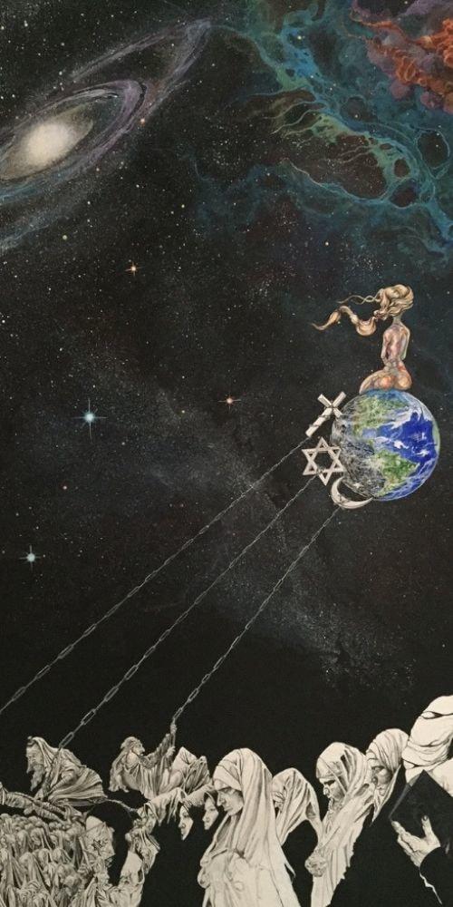 audacity sitting globe space galaxy