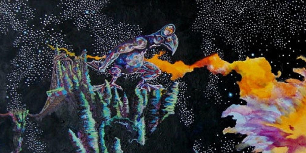 comet watcher bird comet fire stars space