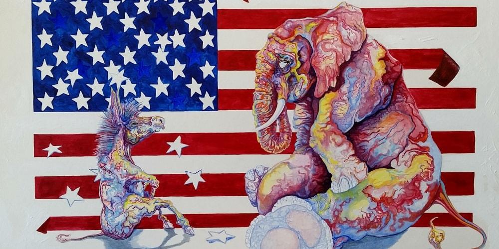 egocentric oblivion elephant donkey flag featured