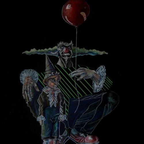 family tradition clown balloon child