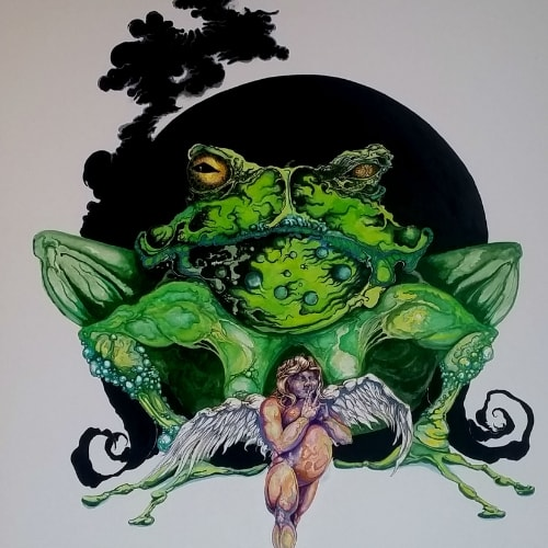 giant frog angel wings toad
