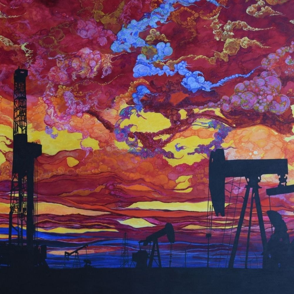 oil painting sunset clouds oil digs